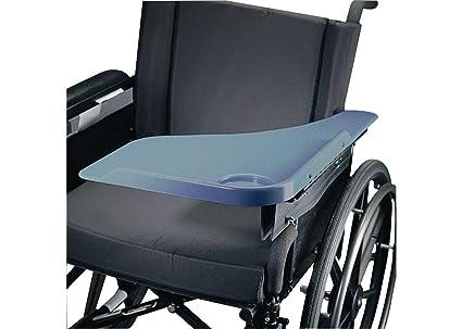Patterson Medical Rolyan - Reposabrazos con posavasos para silla de ruedas (lado izquierdo),