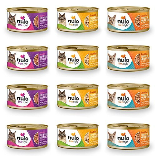 Nulo FreeStyle Shredded Canned Wet Cat Food Variety Bundle -