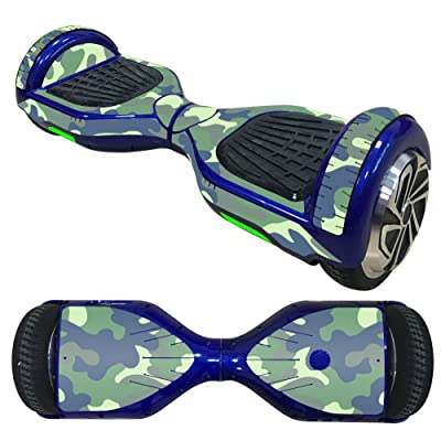 Autocollants Balance Scooter/Hoverboard Vert Camouflage (2)