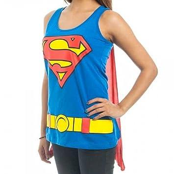 Superman Capa Mujer Camisa Top Traje Clark Kent Superhero ...