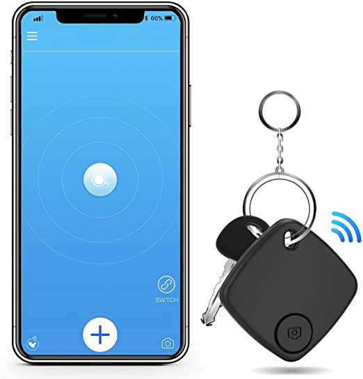MACHSWON GPS Key Finder avec Bluetooth Tracker Wallet Phone Key Mini Alarm Locator Tracker Track for Pets Keychain Wallet Bagages 4pack Key Finder Anti Lost Tracker