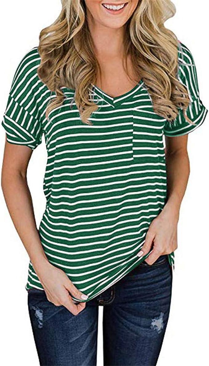 Camiseta Holgada Casual para Mujer, Manga Corta, Textura Suave ...