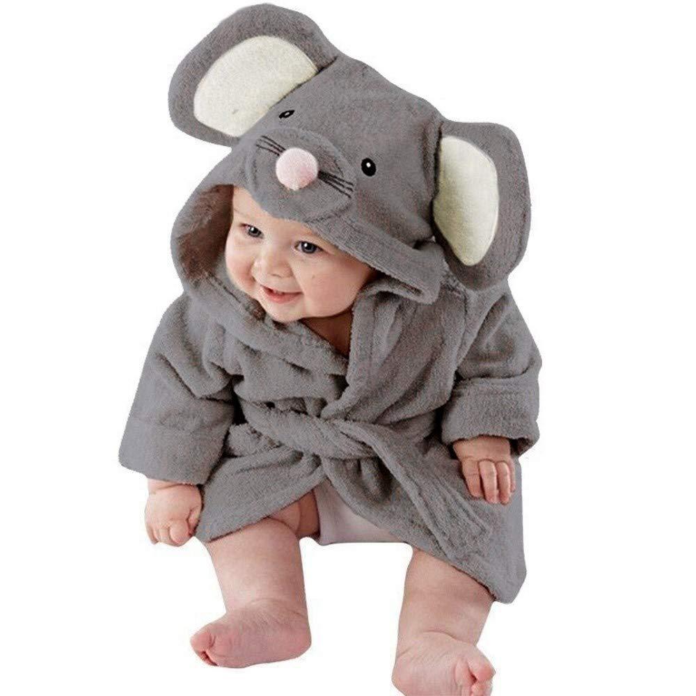 Willsa Baby Girl Clothes, Bathrobe Cartoon Animals Hooded Towel Pajamas Clothes