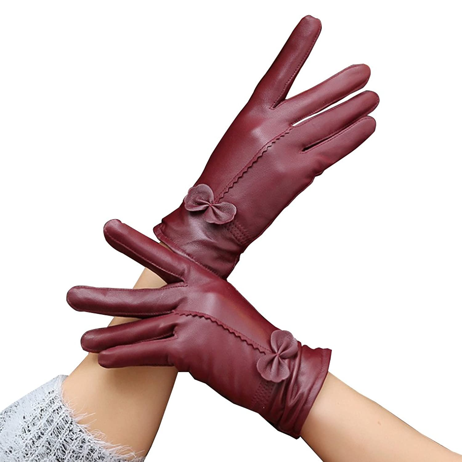 Ladies leather cycling gloves - 85 Off Funbase Winter Lady Girls Outdoor Cycling Glove Pu Leather Gloves
