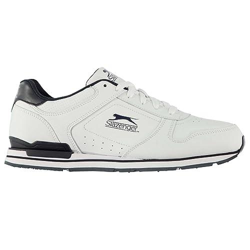 550190e8e7b Slazenger Mens Classic Trainers Sports Authentic Shoes Pumps White/Navy CS4