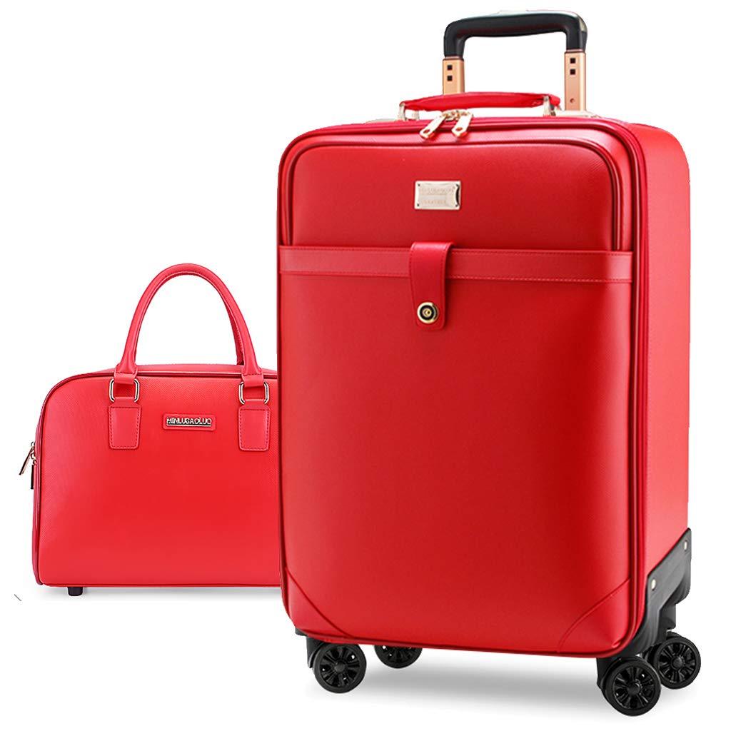 車輪付きの手荷物スーツケース軽量で広々とした荷物セット - トロリースーツケース46 x 39 x 20および36 x 27 x 9 cm - Ryanairキャビンケースおよびフリーバッグに最適 20 inch  B07QS8XB4Y
