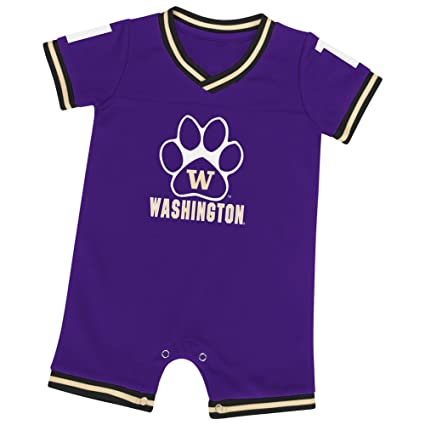 7db72336a Colosseum University of Washington Infant Romper Baby Boy Jersey Onepiece  (0-3 M)