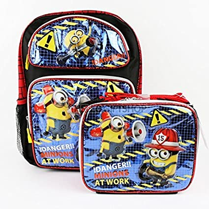 d541552c8e92 Despicable Me Minions At Work Glitter Boys and Girls School Backpack with  Lunch Bag Set