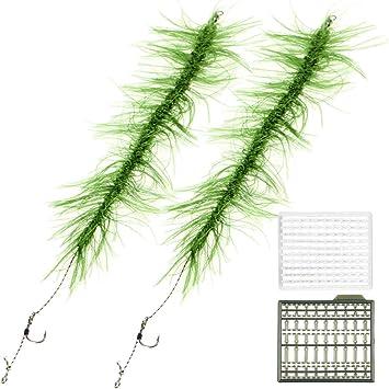 Karpfenangeln Zubehör Ready Made Haar Rigs Terminal Tackle mit Haken Gras S X3H2