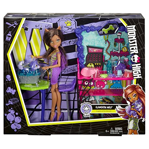 [Monster High Clawesome Pet Salon Playset With Doll] (Monster High For Sale)