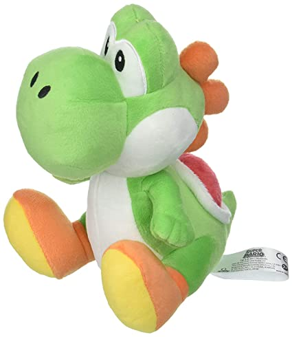 "8/"" Little Buddy Super Mario All Star Collection 1416 Yoshi Stuffed Plush"