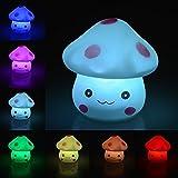 Ifly Online 7 couleurs Creative Led Mushroom Night Light Gradient souple avec bouton Batterie Fête de Noël Decor Manufacturer: Ifly Online
