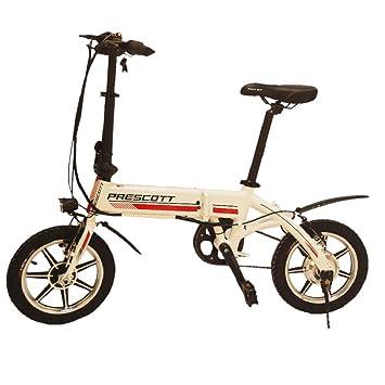 Bicicleta eléctrica plegable de Prescott con batería de litio extraíble
