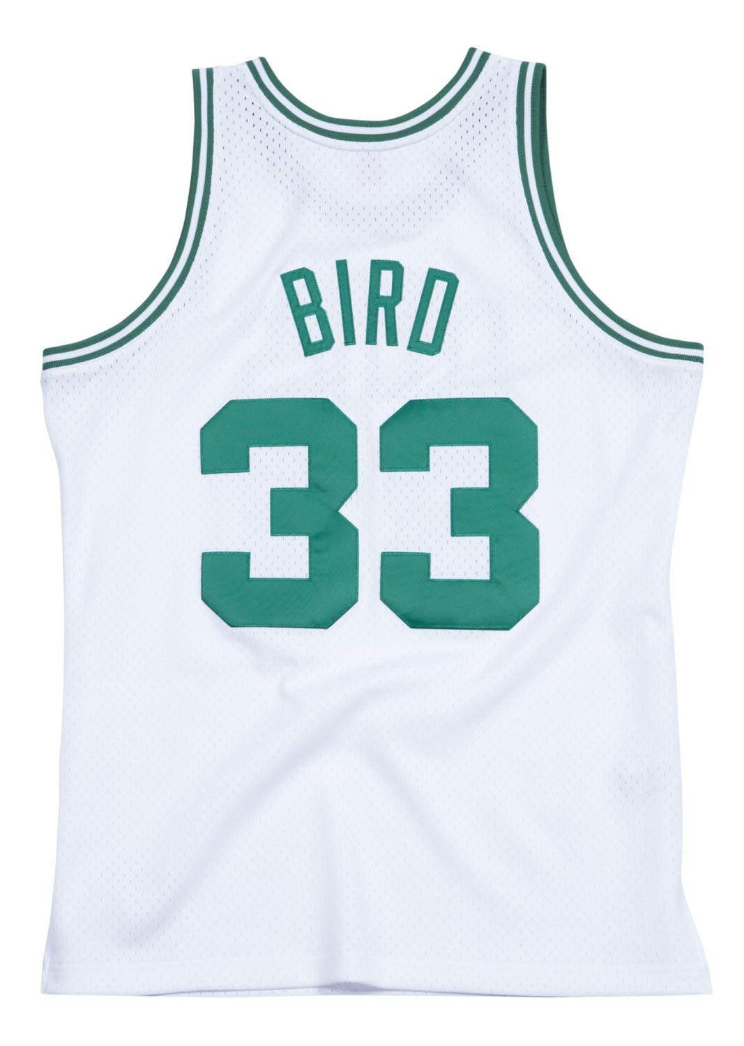 ba631ccd Amazon.com : Mitchell & Ness Boston Celtics Larry Bird White Swingman Jersey  : Clothing