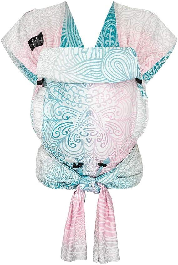 HOPPEDIZ - Marsupio porta bebè Hop-Tye Buckle Jaipur, colore: Crema