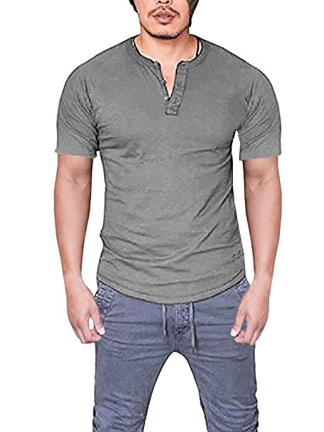 ba50e5b5d58 Seraih Men s Long Sleeve Henley Tee Raglan Sleeve Shirts (M