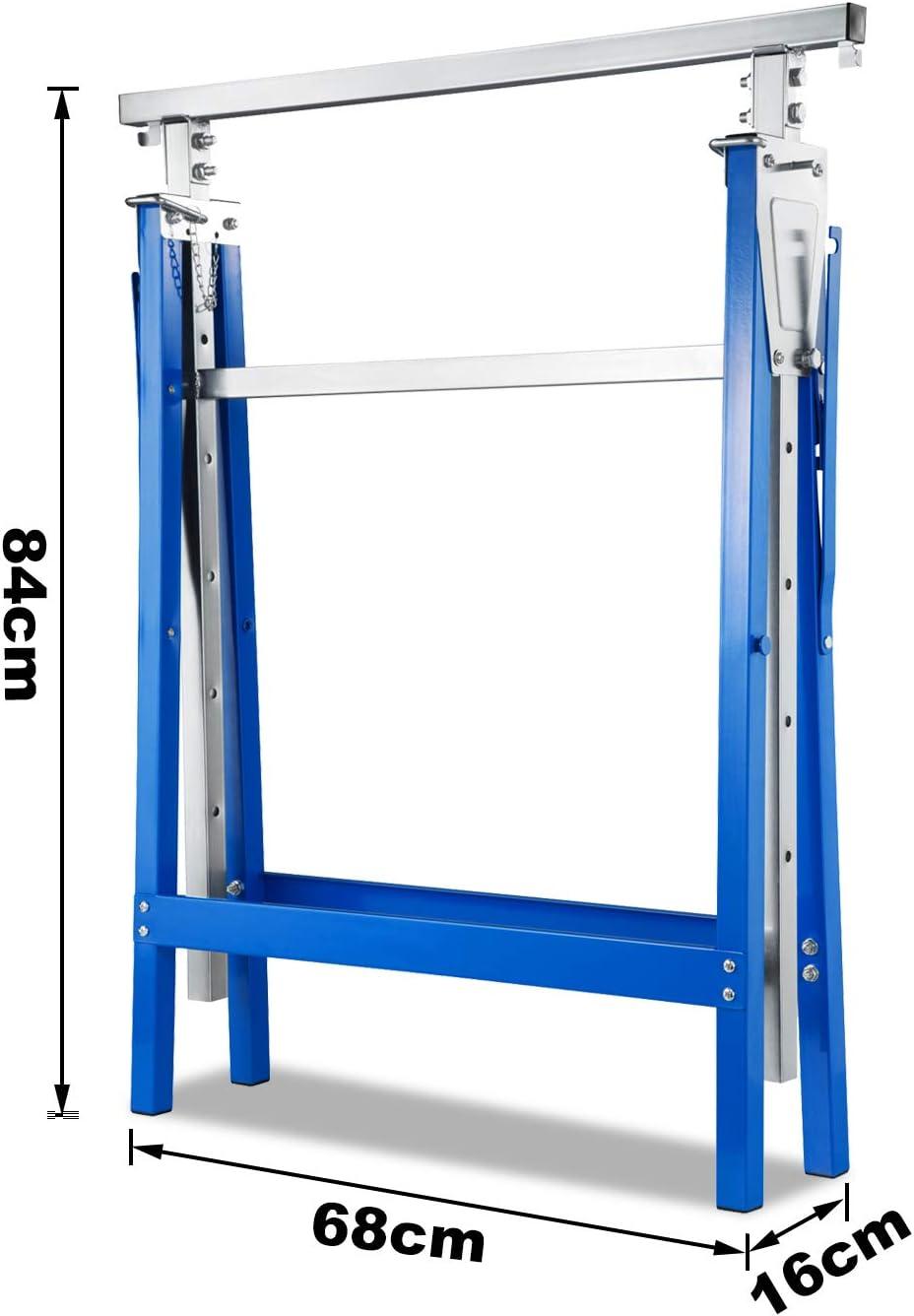 hengsheng 4X Ger/üstbock St/ützbock Klappbock B/öcke Ger/üstb/öcke Werkzeugbank H/öhenverstellbar mit Abrutschsicherung