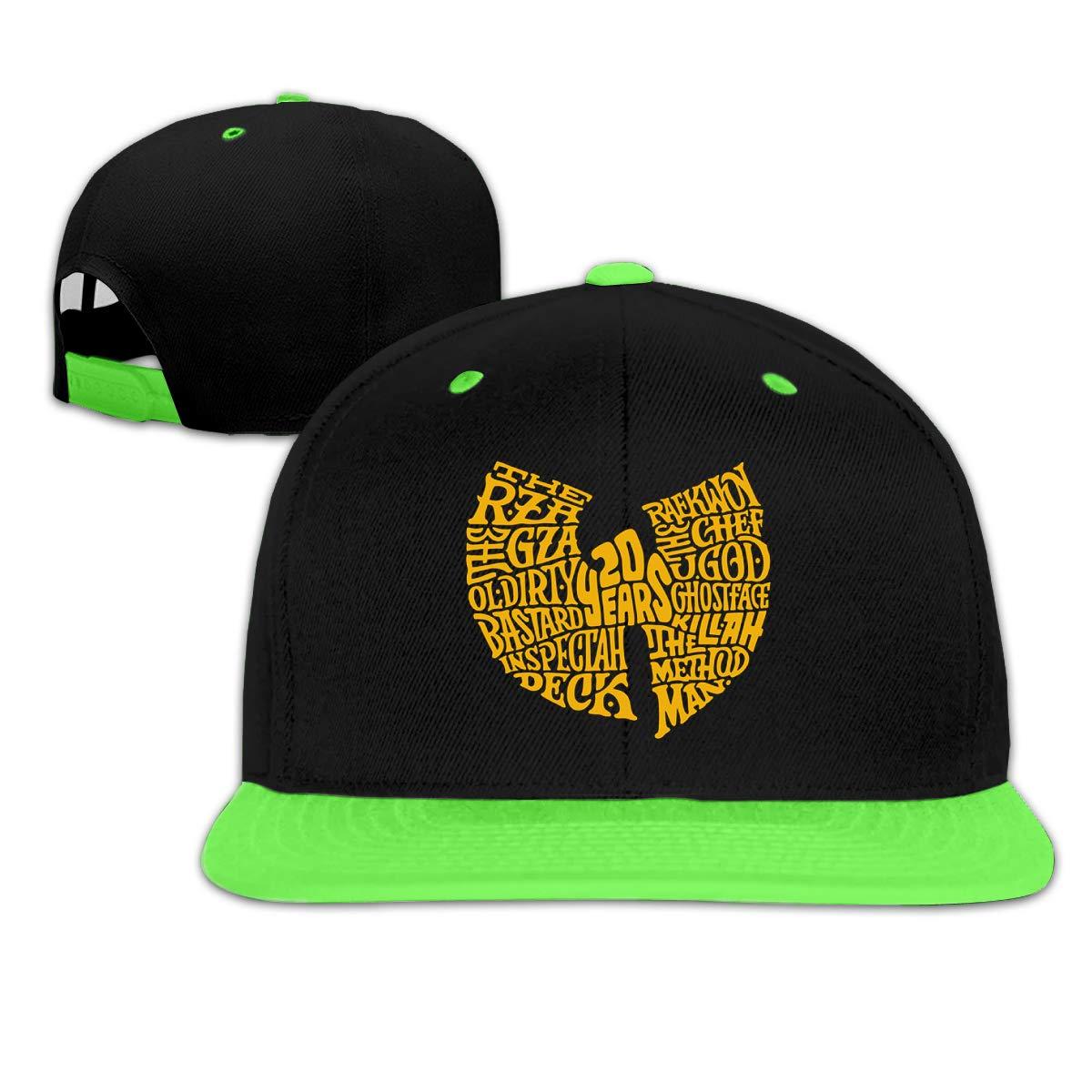 Arbitrary SHOP Wu-Tang Clan 20th Childrens Boy Girls Contrast Hip Hop Baseball Caps Denim Hats