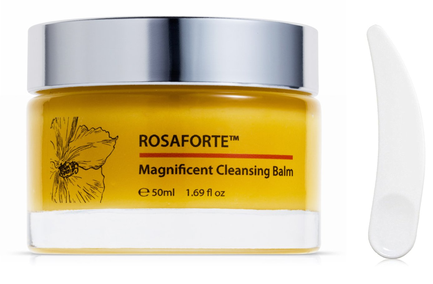 Green Keratin ROSAFORTE Magnificent Cleansing Balm || Rose, Rosehip & Vitamin E || Face & Eye Cleanser for Dry, Mature Skin || 120ml