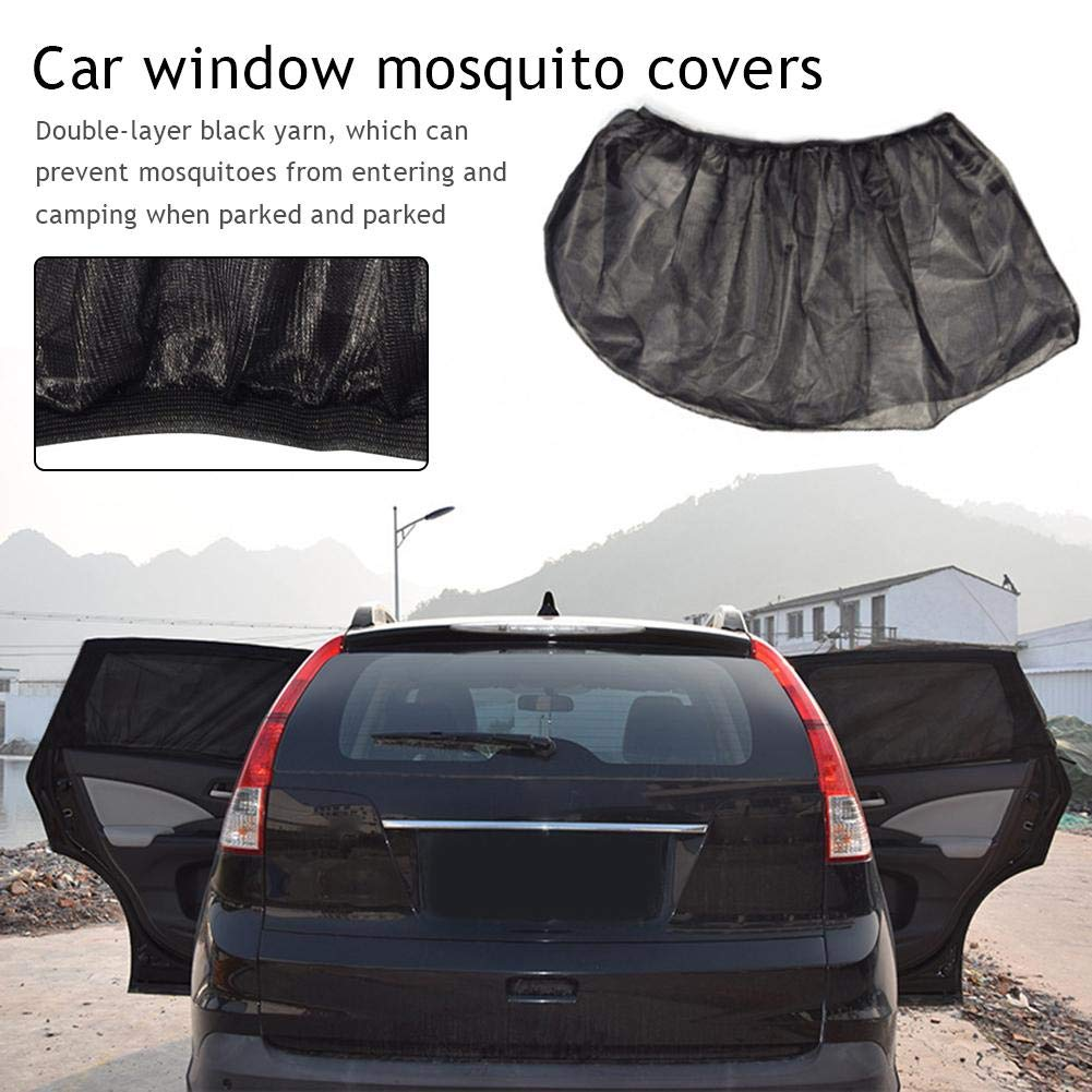 2PC Auto Anti-Moskito-Vorh/änge Auto Seitenscheibe Schatten Auto Gaze Camping selbstfahrende Ausr/üstung Moskitonetz Abdeckung Autoseite Sonnenschirm