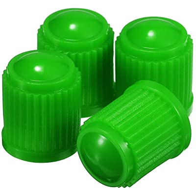 UA Crafts 25 Pack Tyre Valve Dust Covers - Plastic Tire Caps for Bike, Car, Trucks, Motorbike, and Bicycle (Green, 25 pcs): Sports & Outdoors