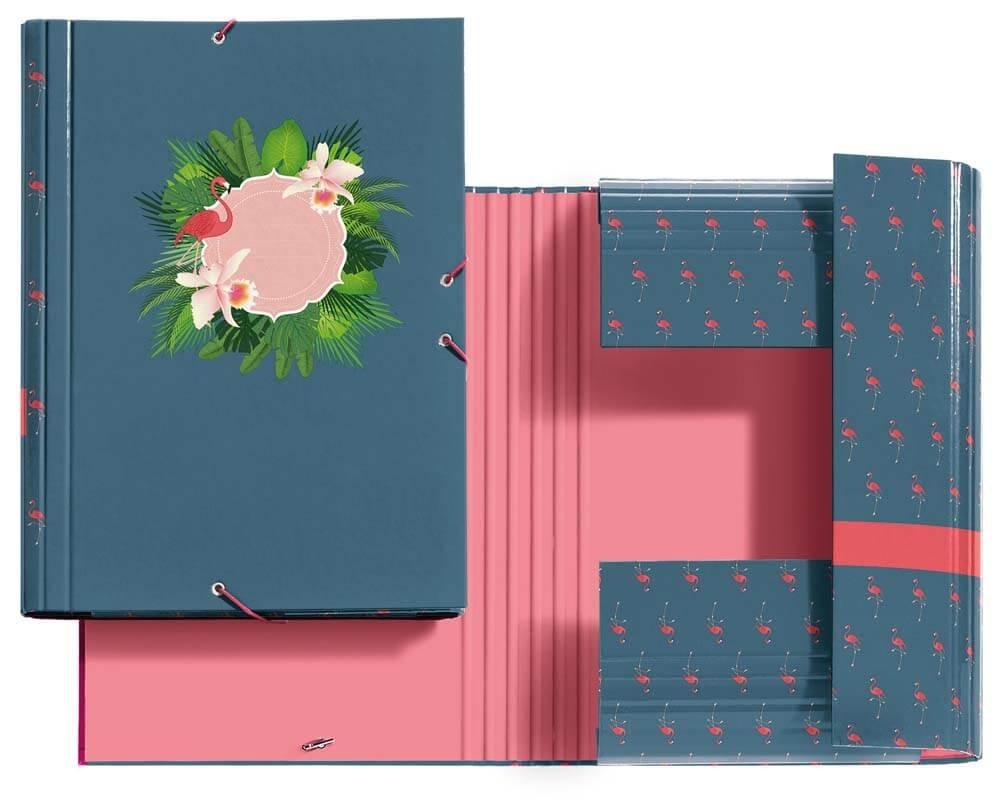 Jordi Labanda 20814 - Carpeta solapas, diseño flamingo: Amazon.es: Oficina y papelería