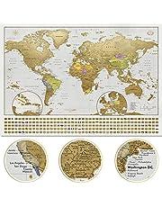 XL Scratch Off World MAP