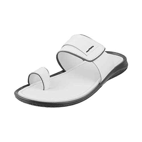 White Leather Outdoor Sandals-9 UK