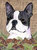 Caroline's Treasures SS4105CHF Boston Terrier Flag Canvas, Large, Multicolor For Sale