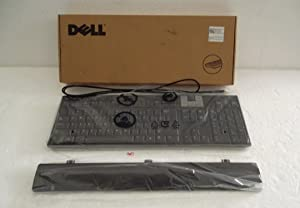 0U473D Dell USB Slim Multimedia Keyboard With Built-in 2 Port USB HUB & Removable Palmrest