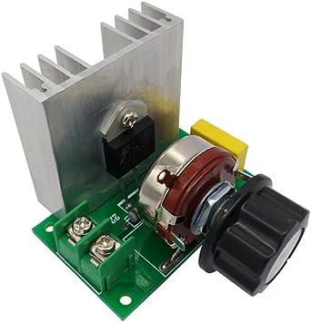 FengYun® Potencia del ventilador del horno eléctrico que regula el regulador del interruptor del regulador del voltaje del termostato: Amazon.es: Electrónica