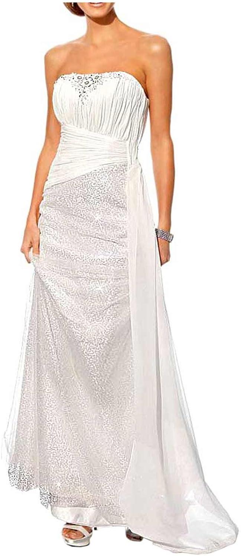 Heine Hochzeitskleid mit Pailletten creme Größe 14 (14): Amazon.de