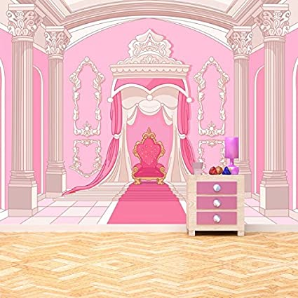 Azutura Princess Throne Wall Mural Pink Fairytale Photo Wallpaper Girls Room Home Decor Available In 8