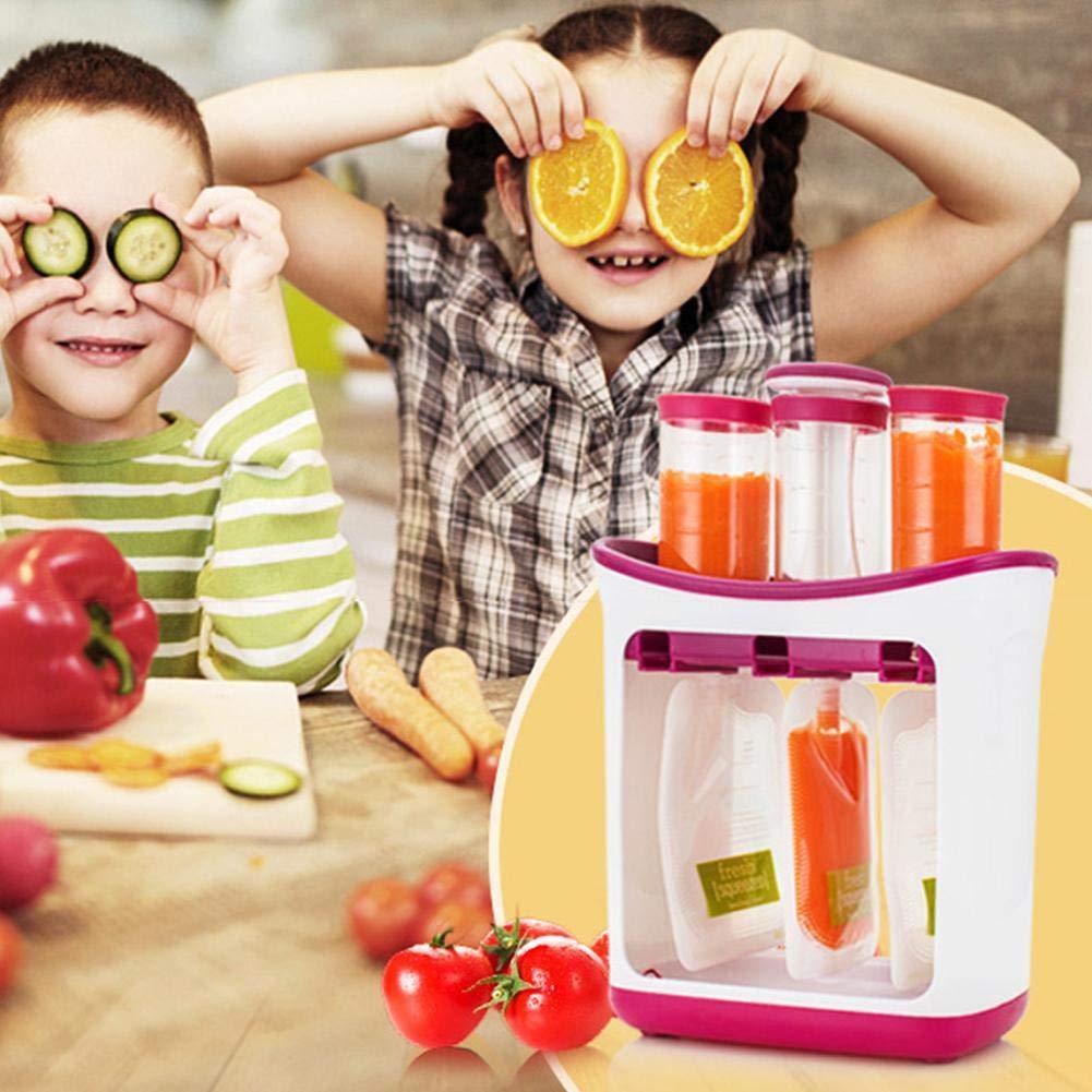 Fruchtp/üreepresse Aufbewahrungsbox F/ür Babynahrung Beutel F/ür Babynahrung Station Maker Fruchtp/üreepresse Kleinkinder Nahrungsmittelhacker Easy Grip Home Kitchen