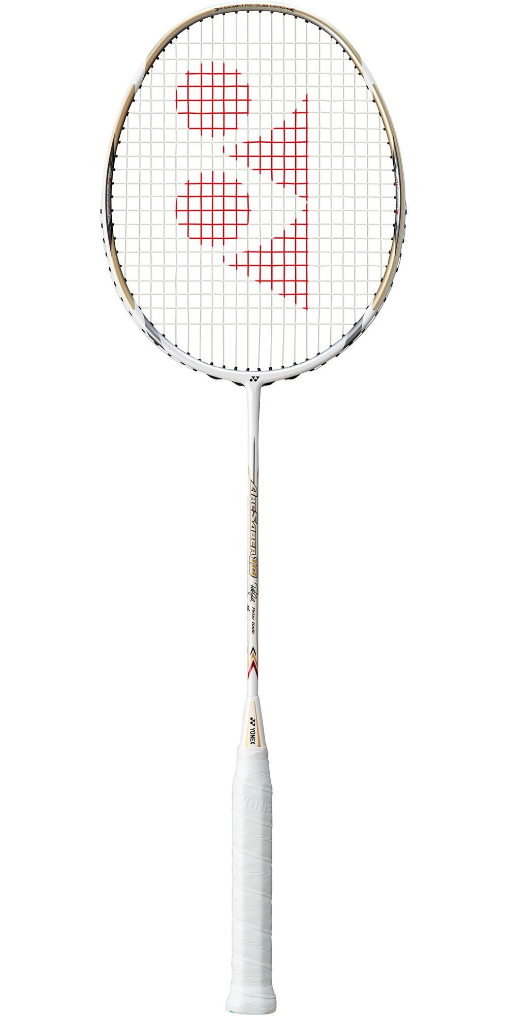 Yonex Arcsaber 10 White 2018 New Badminton Racket (Strung with NG99 @ 24lb)