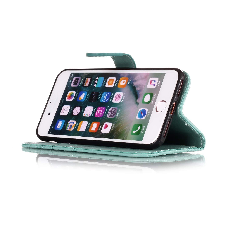 L/öwenzahn Blau KM-Panda kompatibel mit Huawei P10 Lite Leder Tasche Klapph/ülle Schutzh/ülle Handytasche Ledertasche Handyh/ülle Lederh/ülle Flip Case h/ülle mit Kartenf/ächer