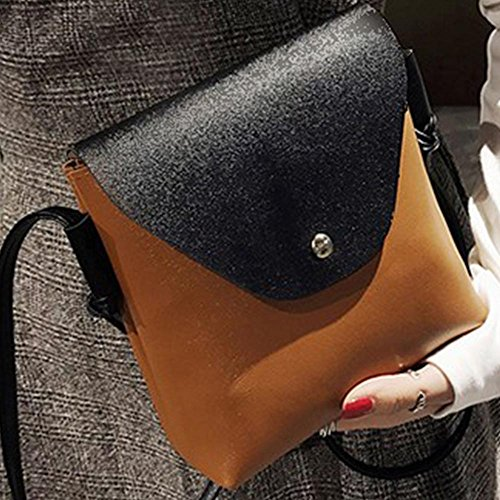 Women Merssavo Purse Shoulder Handbag Messenger Bag Satchel Hobo Leather Brown Tote Crossbody HOw4qO