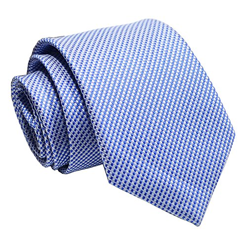 Tonal Silk Blue Tie (Men French Blue Extra Long Woven Silk Work Elegant Dress Tie Fashion Fun Necktie)