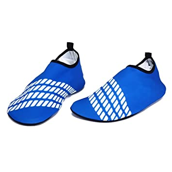 firelong Wasser Haut Schuhe Quick Dry Aqua Socken für Schwimmen Strand Pool Surf Yoga für Männer, Frauen, Zuhause, Büro und fahren, blau