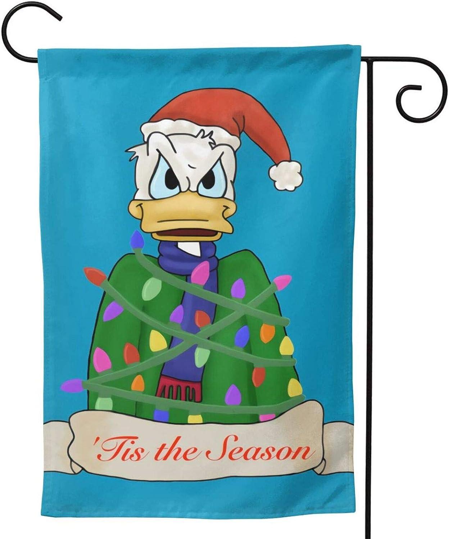 Donald Duck Christmas Halloween Garden Flag Perfect Decor for Outdoor Yard Porch Patio Farmhouse Lawn,12.5X 18 Inch