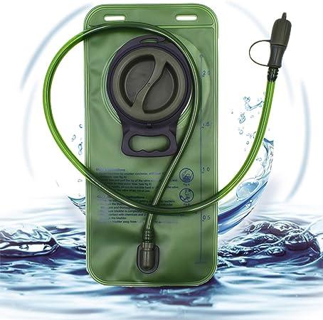 Trinkblase Wasserbehälter 2 liter Trinksystem mit Outdoor-Sport Rucksack,