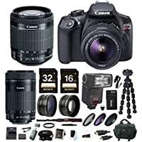Canon EOS Rebel T6 DSLR Camera w/ EF-S 18-55mm / 55-250mm Lens & TTL Flash Gun Bundle At A Glance Review Image
