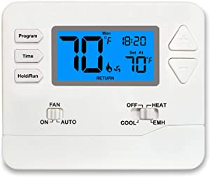 Heat Pump Thermostat Programmable (Multi-Stage 2 Heat / 1 Cool)