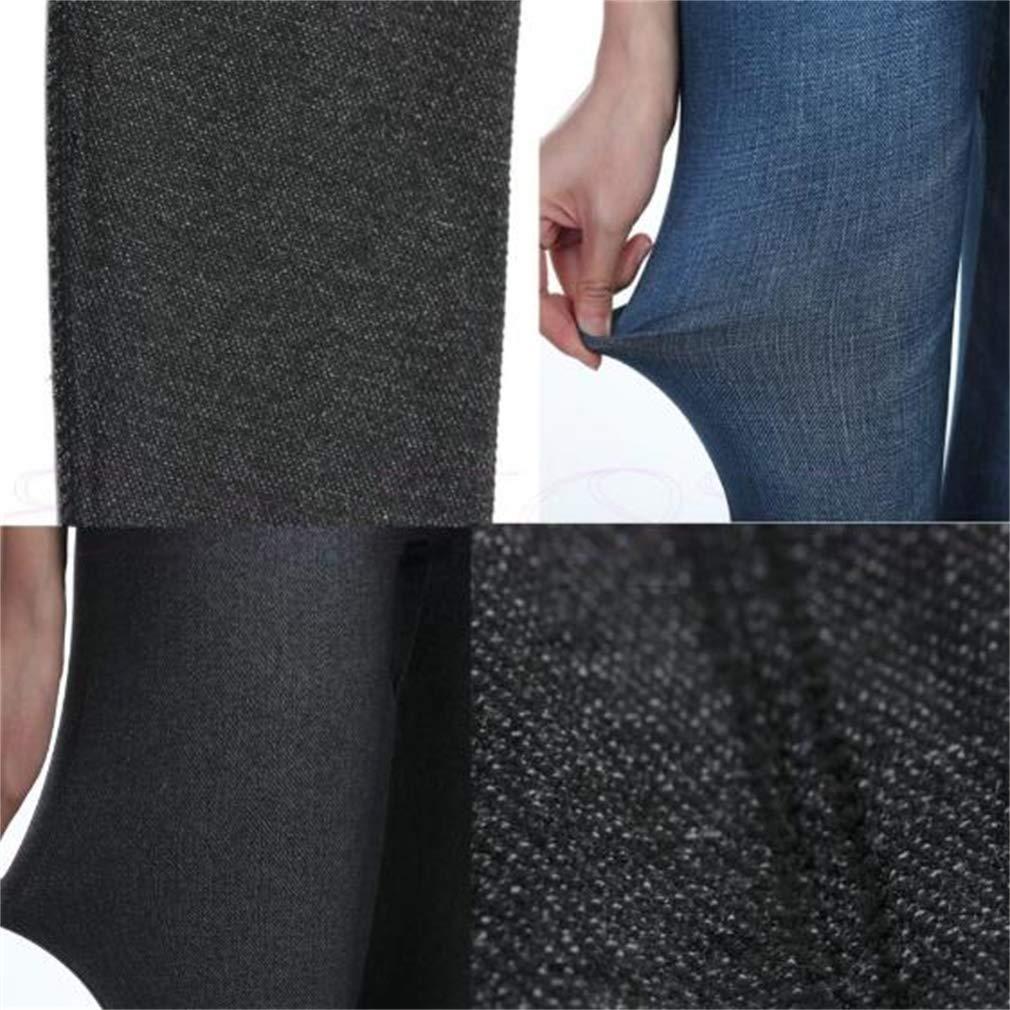 A fine Gift Womens Slim Denim Pants Pockets Color : Black//Grey//Blue, Size : XL//XXL Seamless Leggings