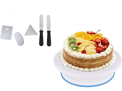 Cake Decorating Turntable Homeself Cake Plate/Cake Stand/Transfer Cake Tray/Rotating  sc 1 st  Amazon.com & Amazon.com | Cake Decorating Turntable Homeself Cake Plate/Cake ...