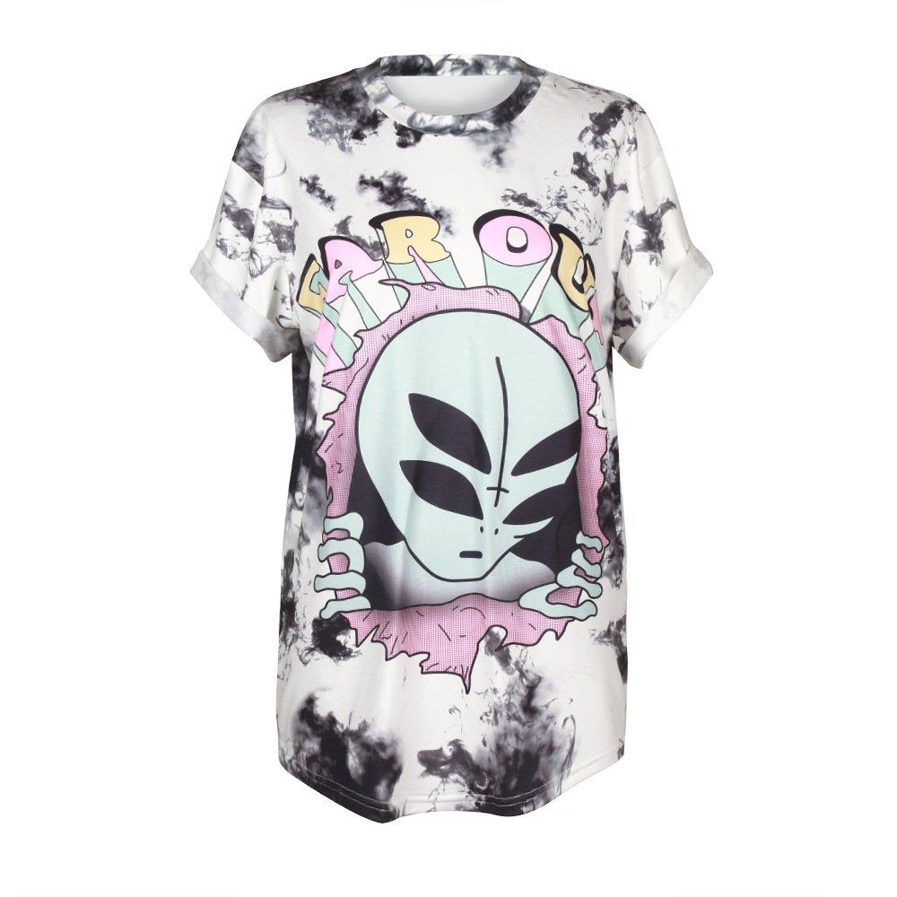 5c34b84e2 Amazon.com: MHOTCIG Fashion Couple Tops Women Summer Casual T Shirt Punk  Sleeve Printed T-Shirts: Clothing