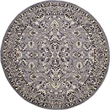 Cheap A2Z Rug 8-Feet-Round Covent Garden Persian Traditional Design Rug, Gray