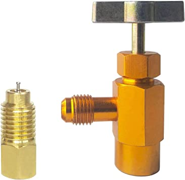 """Refrigerant Can Bottle Tap 1//2/"""" ACME R-134a R-134a Thread Adapter Opener Valve"""