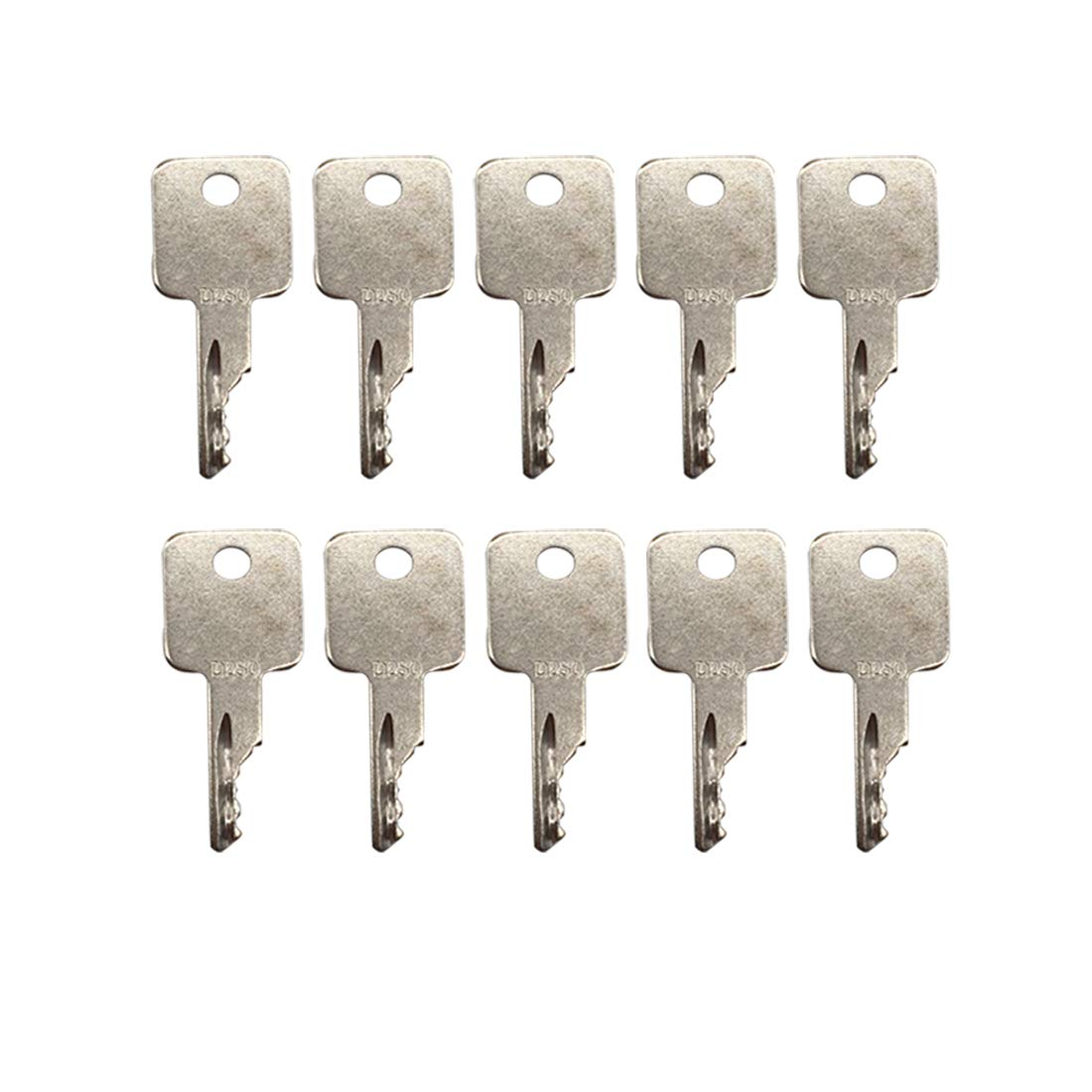 10 pcs Ignition Key D250 Replacement for Case IH Bobcat Vermeer JLG Grove Terex A77313 6693241 6709527