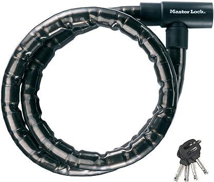 MASTER LOCK 8218EURDPS Candado, 2 m Cable, Llave, Exterior, para ...